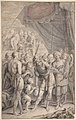 Design for a Title Page- A General and His Army Looking at a Map. MET DP802078.jpg
