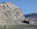 Destroyed monastery in Tibet on 2014-05-23, from- Friendship Highway-312-Shelkar to Gyatso La-Ruine-Kloster-2014-gje (cropped).jpg