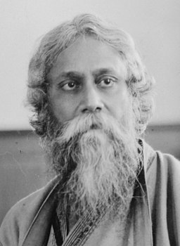 Detail, Rabindranath Tagore, full-length portrait, seated, facing front LCCN99403031 (cropped)