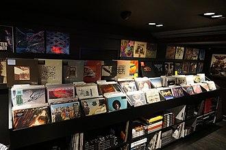 John Varvatos (company) - Vinyl records for sale at the Detroit John Varvatos store