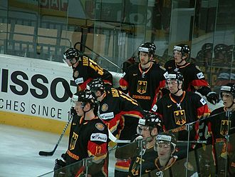 Germany men's national ice hockey team - Image: Deutsche nationalmannschaft wm 2005 20050509007