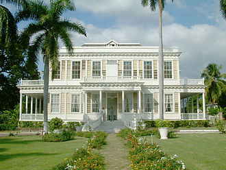 Half Way Tree - Devon House, home of the first West Indian millionaire of African descent.