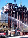 Dexter Building under demolition after fire