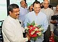 Dharmendra Pradhan and the Minister of State for Skill Development and Entrepreneurship, Shri Anant Kumar Hegde assumed the charge of their portfolios, in New Delhi.jpg