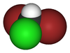 Spacefill model of dibromochloromethane