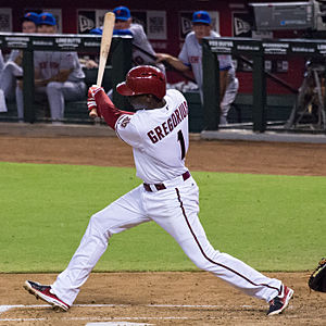 Didi Gregorius - Gregorius batting for the Arizona Diamondbacks on August 9, 2013