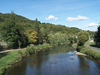 Eurocross - The Sauer river which is adjacent to the Eurocross course