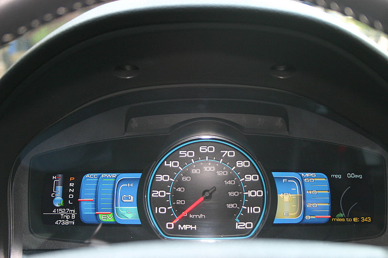File:Digital gauges Ford Fusion Hybrid.jpg