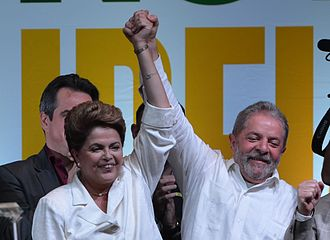 Pink tide - Lula and Dilma Rousseff former brazilian presidents are members of the socialist Workers' Party.