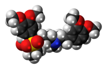 Space-filling model of the dimeditiapramine molecule