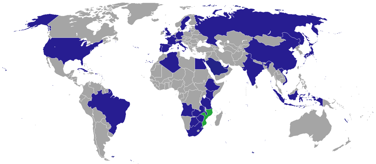 List of diplomatic missions of Mozambique - Wikipedia
