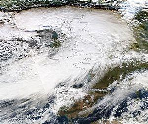 2013–14 Atlantic winter storms in Europe - Image: Dirk 23 12