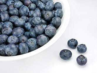 Blueberry - A dish of blueberries