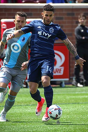 Dom Dwyer - Dwyer playing for Sporting Kansas City in 2017