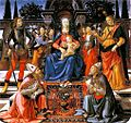 Domenico Ghirlandaio Madonna and Child enthroned with Saint c 1483.jpg