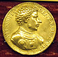 Domenico de' vetri, medaglia di alessandro de' medici e la fede (oro).JPG