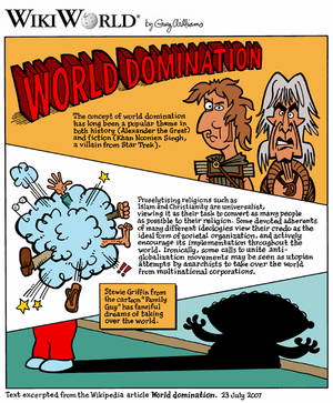 "WikiWorld comic based on the article ""Wor..."