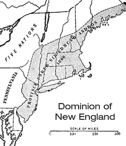 Location of Dominion of New England