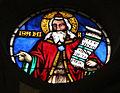 Don leonardo di simone su dis. di niccolò gerini, vetrate, 1386-90, 03.JPG