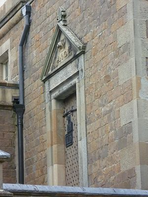 Old Tolbooth, Edinburgh - Door of the tolbooth, built into a side wall of Sir Walter Scott's House at Abbotsford