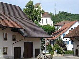 Wölflinswil - Image: Dorfplatz Woelflinswil
