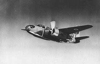 No. 107 Squadron RAF - A Douglas Boston (Douglas A-20) of the RAF in flight