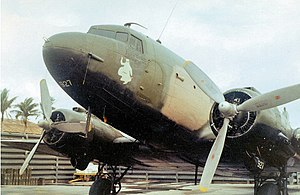 4th Special Operations Squadron - Detail of Douglas AC-47D (S/N 45-0927) of the 4th Air Commando Squadron in February 1968 at Nha Trang Air Base, South Vietnam. This aircraft was reassigned to South Vietnam AF after USAF pullout in 1971.