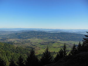 Douglas County, Oregon - The county, looking east from west of Roseburg