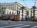 Down in New Orleans - Canal at Basin Streetcar 02.jpg