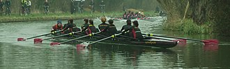 Downing College Boat Club - Image: Downing W1 Lent Bumps 2011