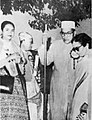 Dr. Ambedkar during fourth World Conference of Buddhism at Kathmandu on 20 June 1956. Prime Minister of Burma U. Nu on right.jpg