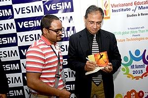 Satish Modh - Book signing by Modh at MTHR Global Summit 2015