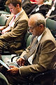 Dr. Sonny Ramaswamy takes notes during the second day of the two day G-8 International Conference on Open Data for Agriculture in Washington, D.C. on Tuesday, Apr. 30, 2013.jpg