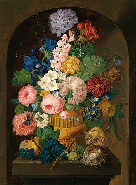 File:Drechsler – Still life of flowers with a bird's nest.jpg