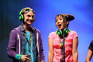 Tania Gunadi - Tania Gunadi (on right) at VidCon 2013