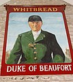 Duke of Beaufort pub sign Hawkesbury Upton - geograph.org.uk - 1525503.jpg