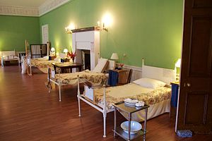 Dunham Massey Hall - A ward inside Dunham Massey Hall as reconstructed in 2015.