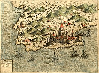 Durrës - The city of Durrës in 1573