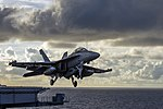 EA-18G of VAQ-139 is launched from USS Carl Vinson (CVN-70) in May 2015.JPG