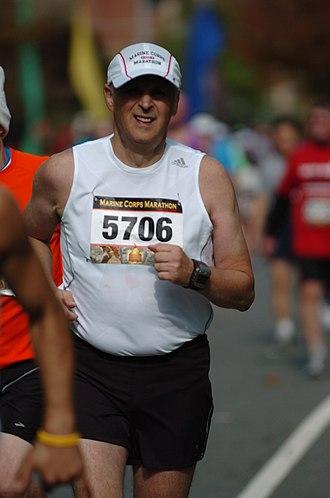 E. Andrew Balas - Andrew Balas running the Marine Corps Marathon in 2010