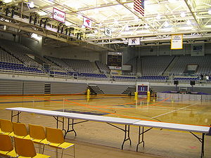 East Carolina Pirates men's basketball - The interior of Williams Arena at Minges Coliseum.