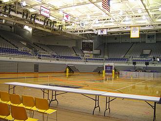 East Carolina Pirates men's basketball - The interior of Williams Arena at Minges Coliseum.
