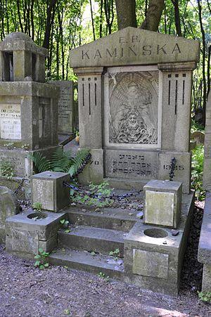 Ida Kamińska - The grave of Ester Rachel Kaminska, her mother.