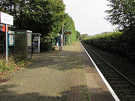 East along Whitchurch (Cardiff) railway station (geograph 6292757).jpg