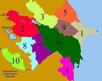 Administrative divisions of Azerbaijan - Image: Econ.districts of Azerbaijan