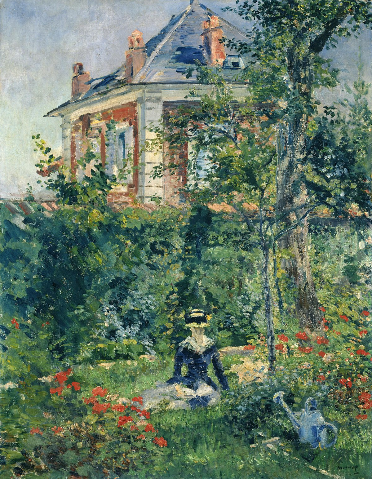 Edouard Manet - Girl in the Garden at Bellevue.JPG