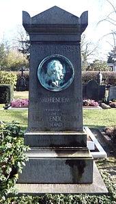 Grabstätte Eduard Bendemann, Nordfriedhof Düsseldorf (Quelle: Wikimedia)