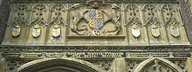 Arms of Edward III and his sons, Trinity College Cambridge.