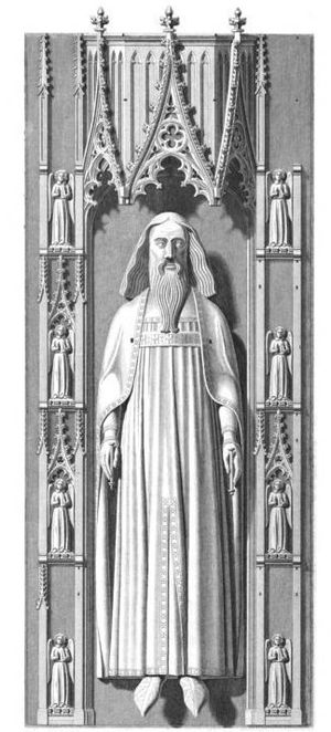 Edward III of England - Drawing of effigy of King Edward III in Westminster Abbey