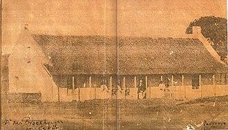 Eerste Pastorie Winburg - Eerste Pastorie 1865 - First build with thatch roof